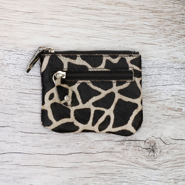 Cow hide purse/card holder (dark)