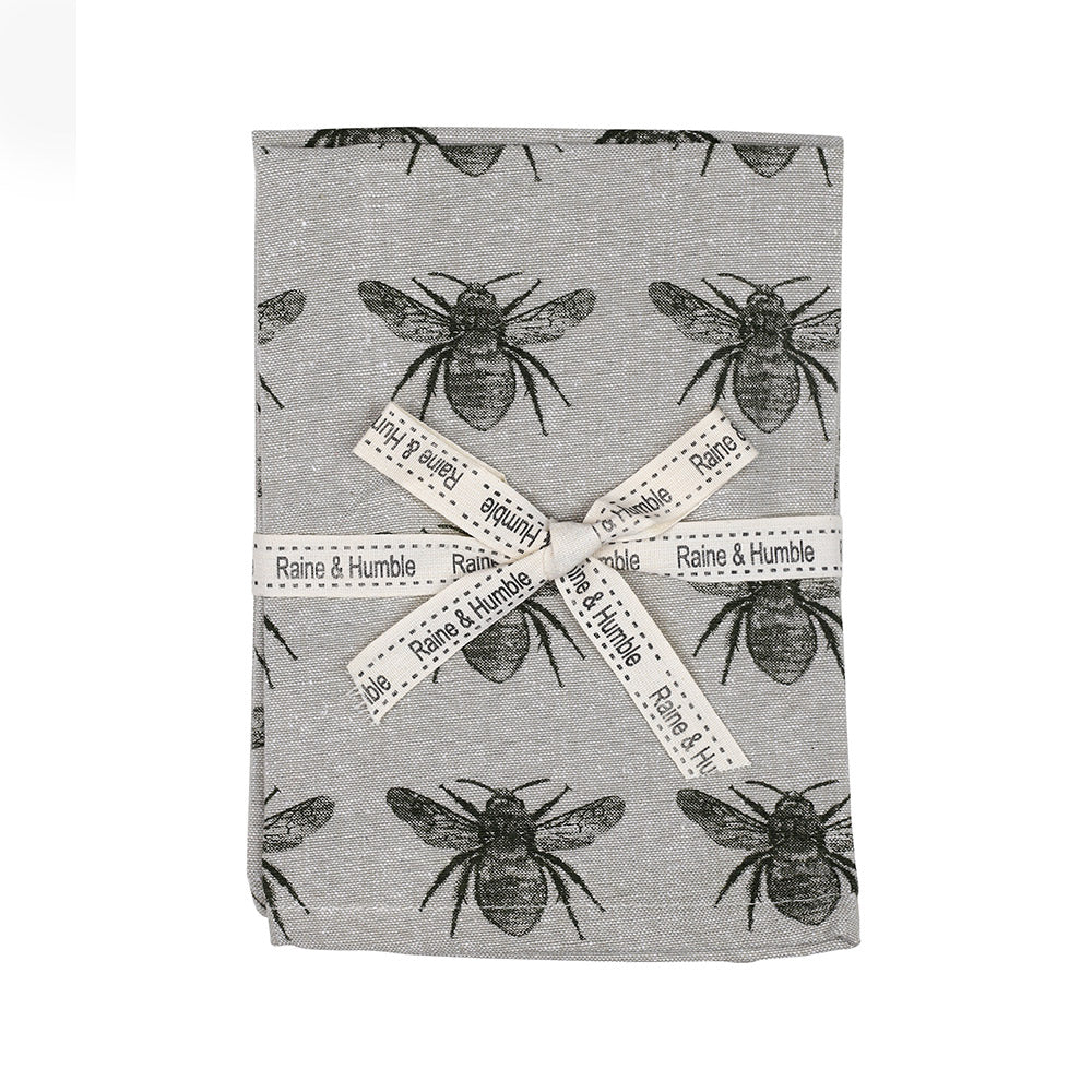 Olive Cotton Bee Napkins Set of 4