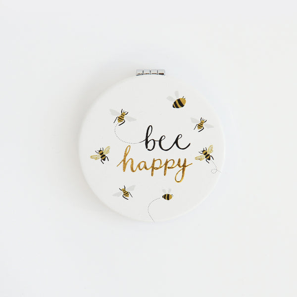 Caroline Gardner Bee Happy Pocket Mirror