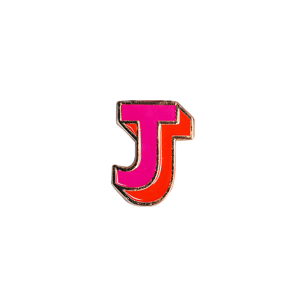 Pin Letter J Coral