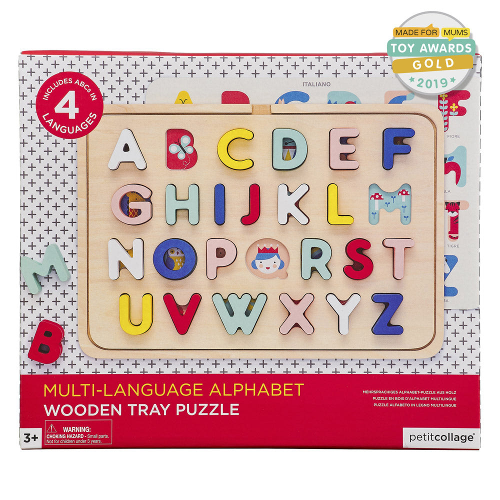 Multi Language Wooden Tray Puzzle