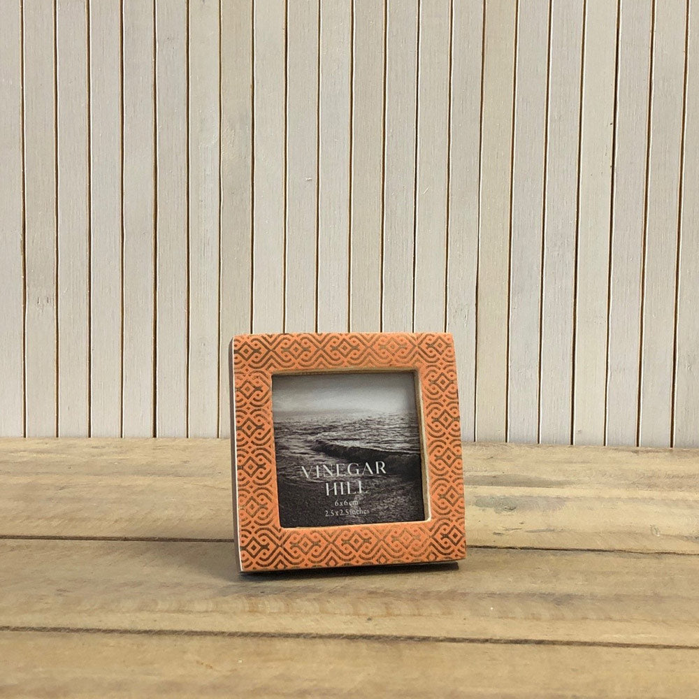 Pink Patterned Mini Photo Frame - 2.5