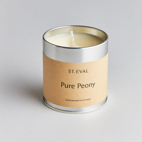 St Eval Pure Peony Scented Tin Candle