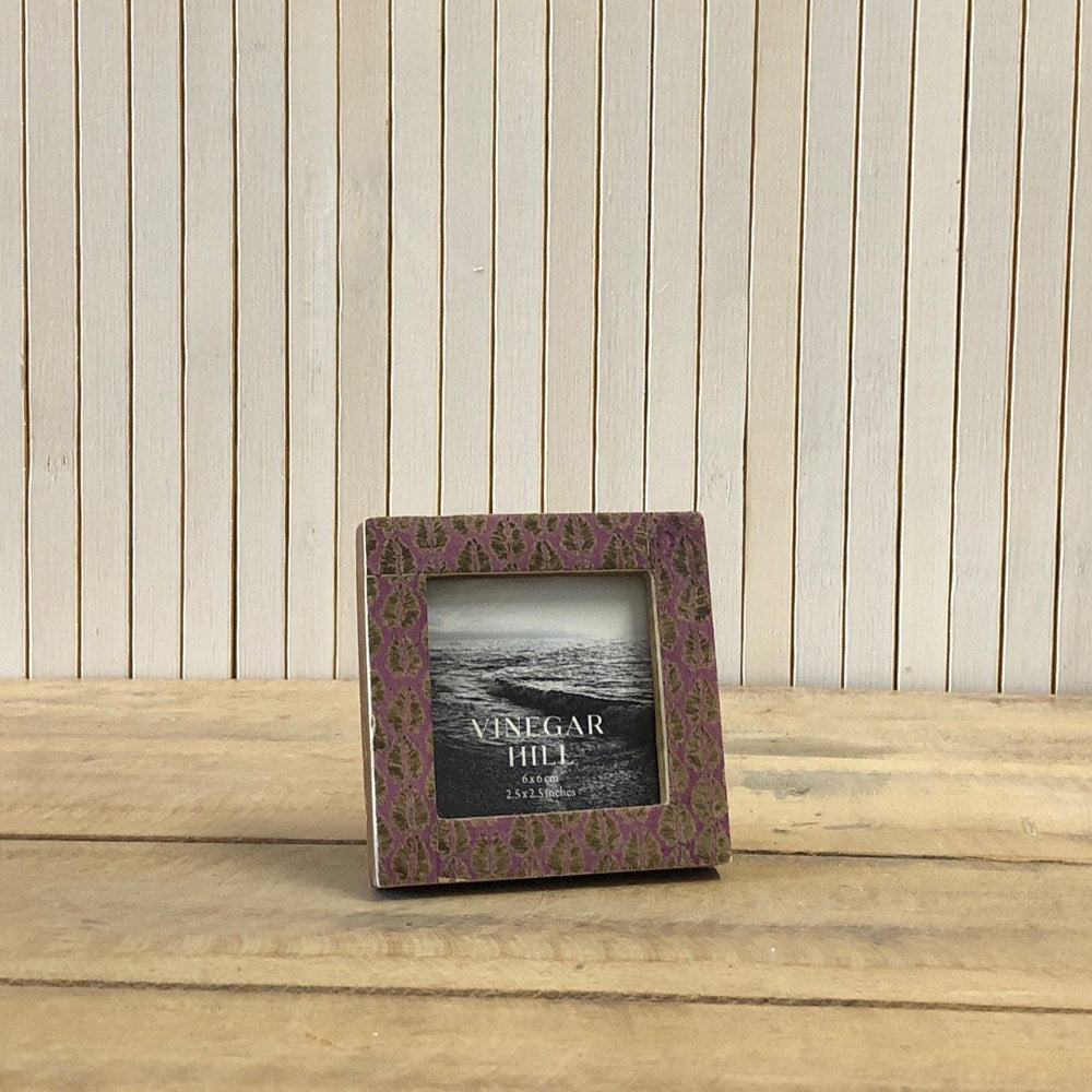 Purple Leaf Mini Photo Frame - 2.5