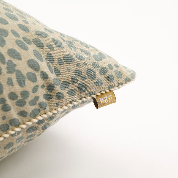 Animal Print Cushion - Blue/Grey