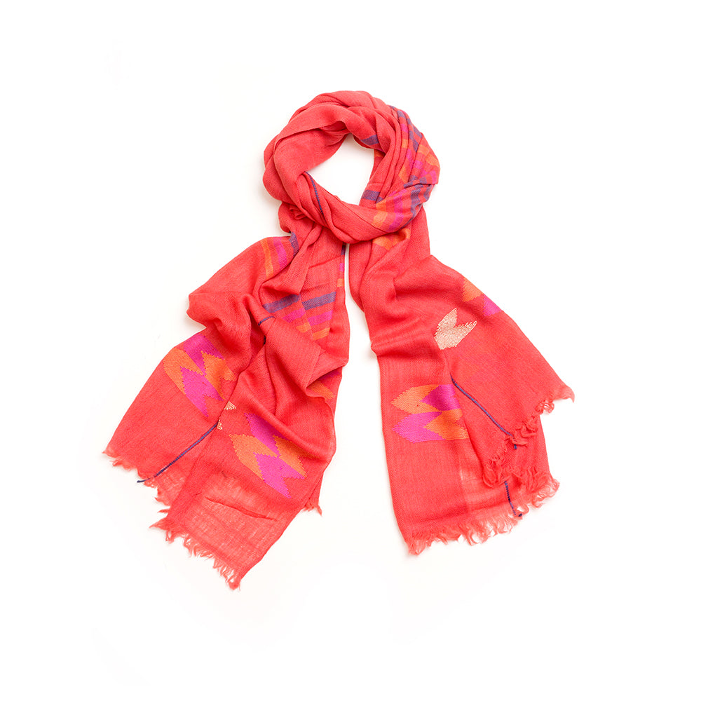 Pashmina/Wool Scarf Red