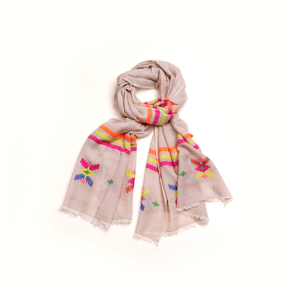 Cream Pashmina Wool Scarf