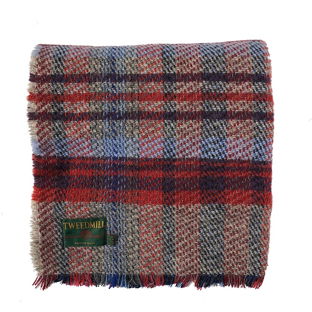 Recycled Wool Blanket - Red Check