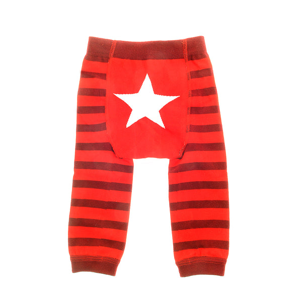 Red & White Star Leggings 6-12M