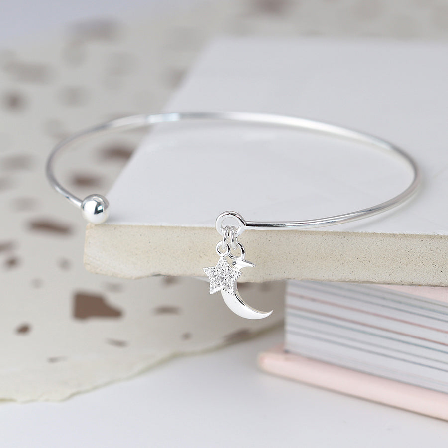 Bangle with Moon & Star