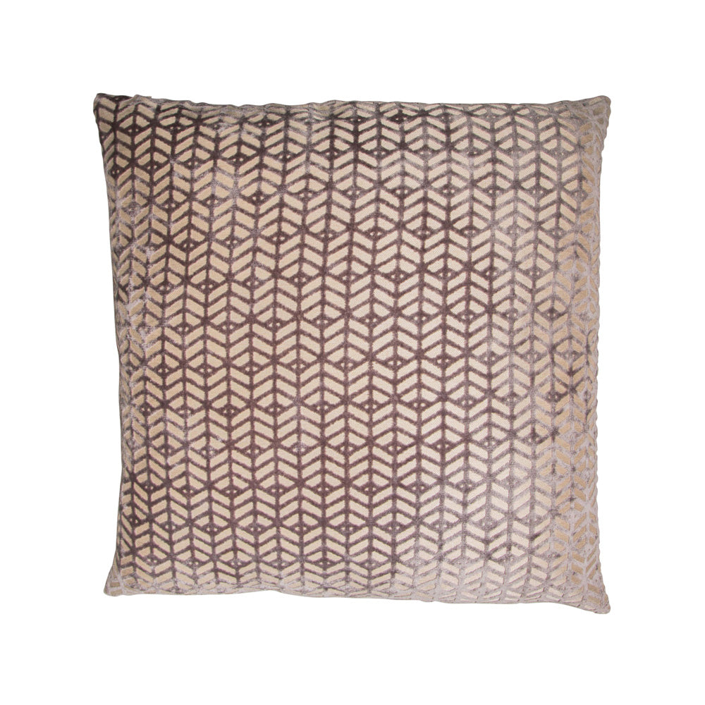 Grey Velvet Abstract Cushion
