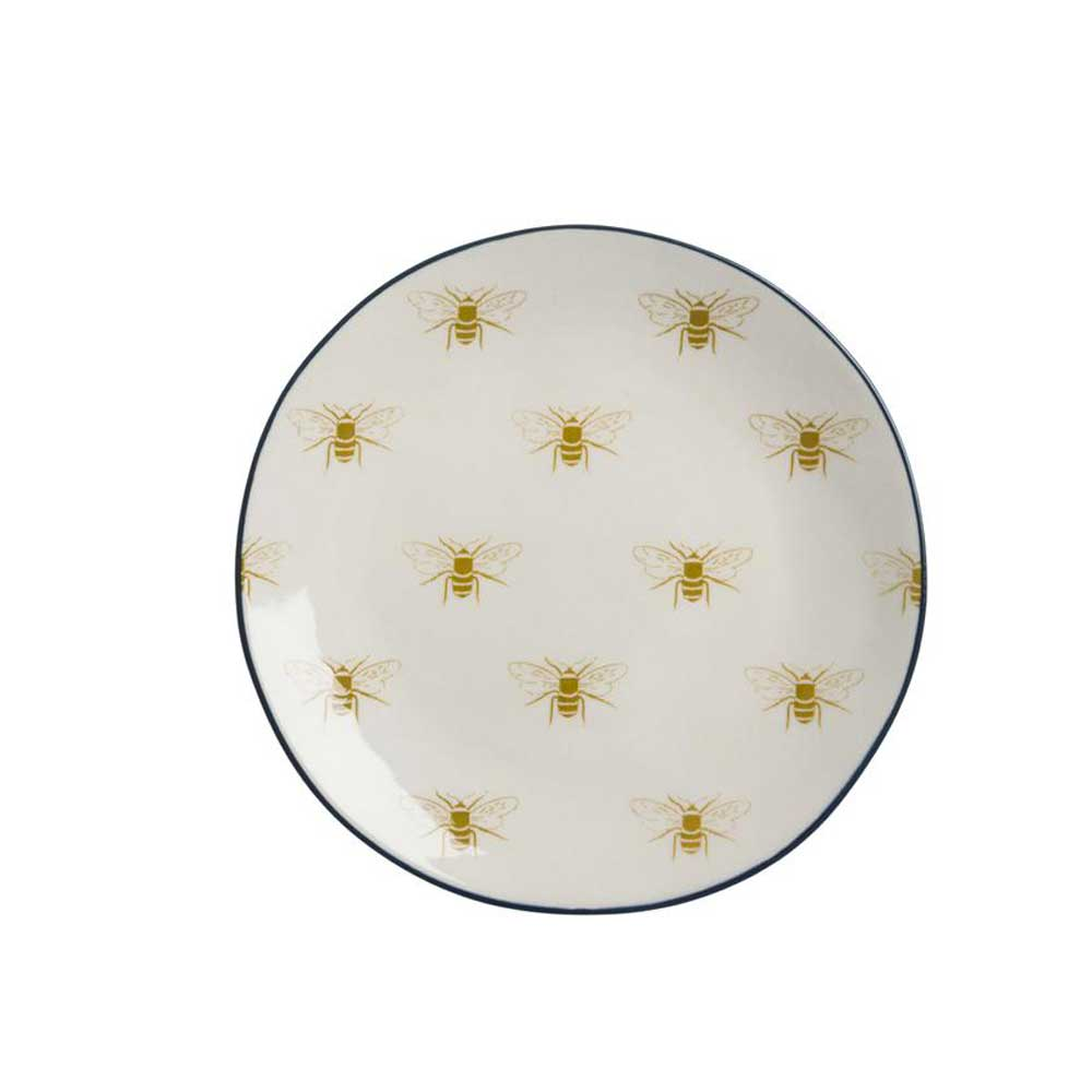 Stoneware Side Plate - Bees