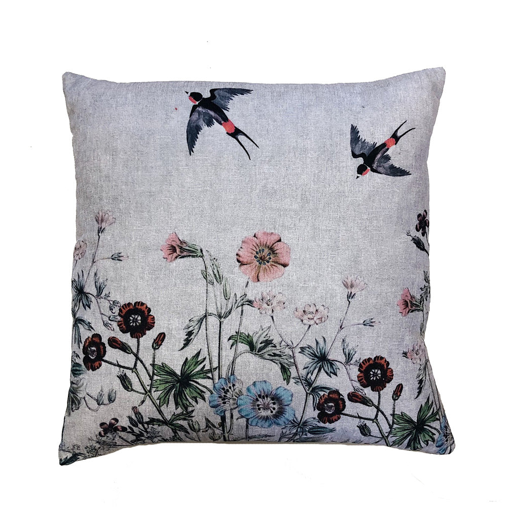 Swallow/Flower Cushion