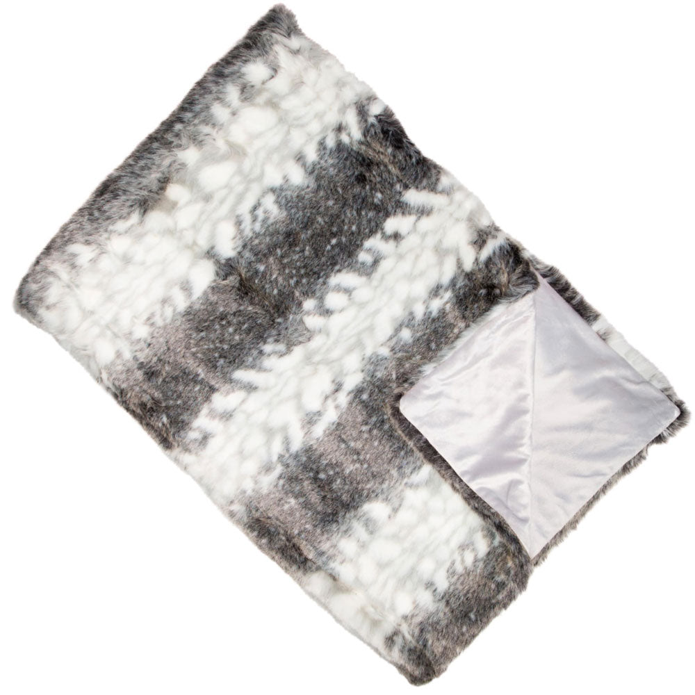 Arctic Striped Faux Fur Throw