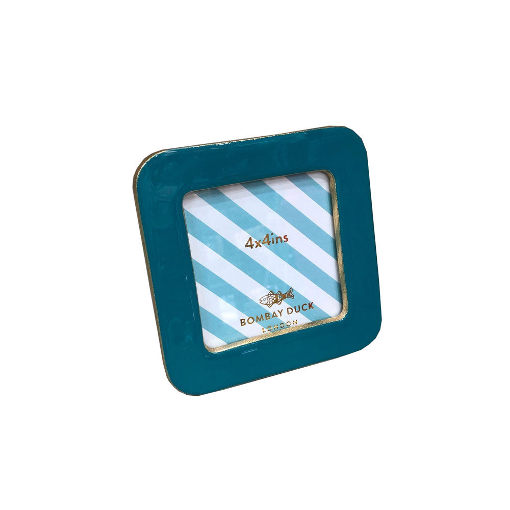 Enamel Bertie Photo Frame - Teal