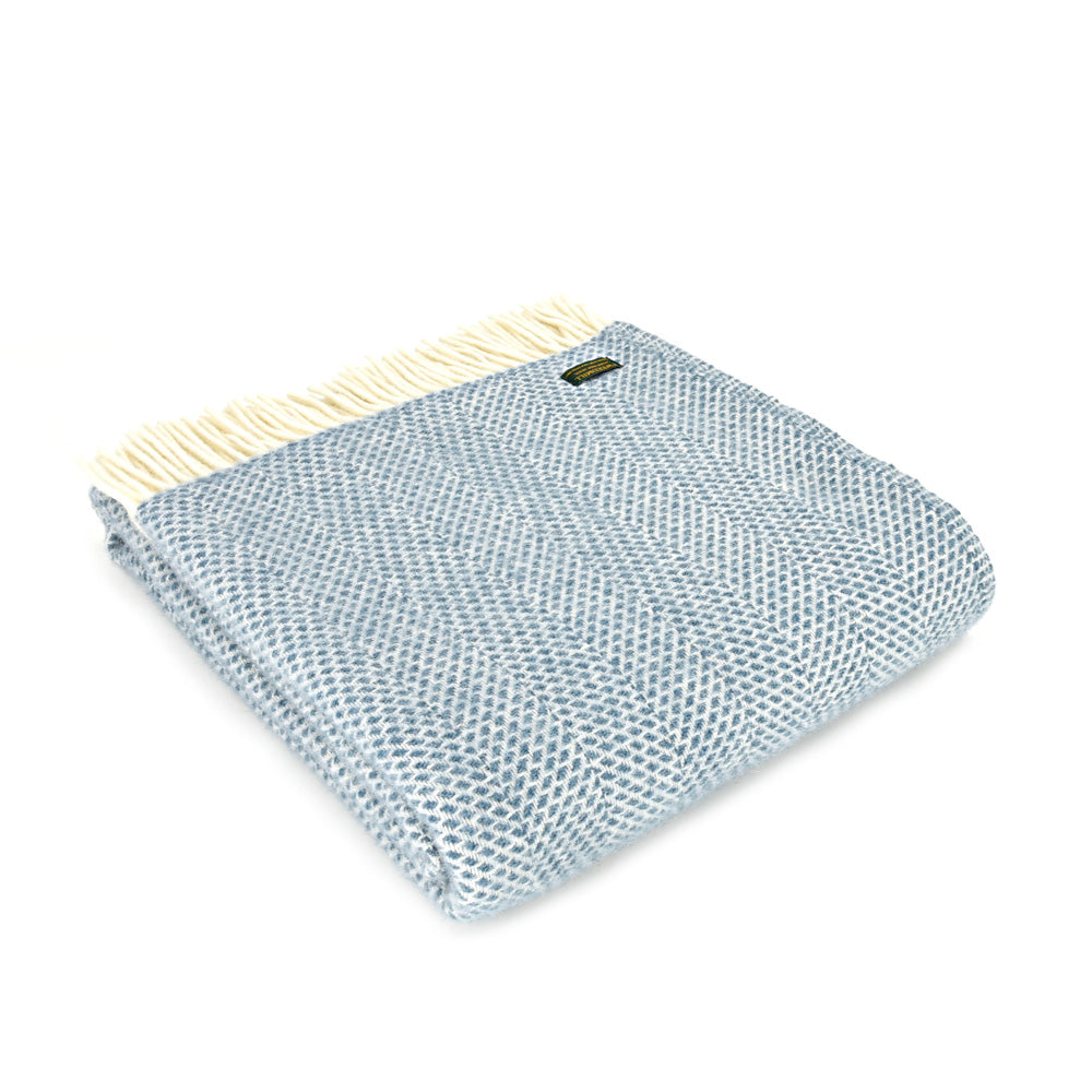 Pure Wool Beehive Throw - Petrol