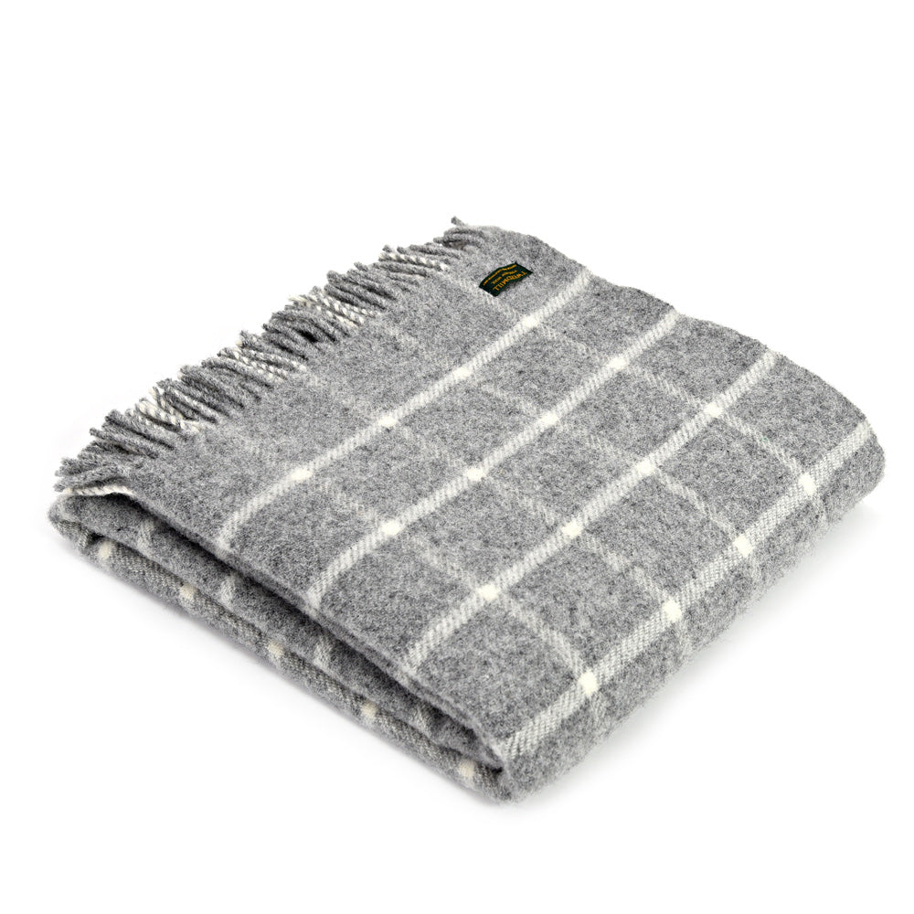 Pure New Wool Chequered Throw