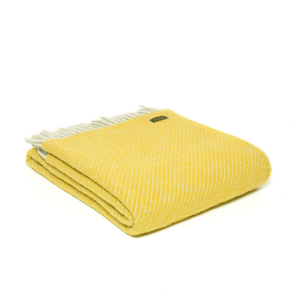 Pure New Wool Throw Yellow