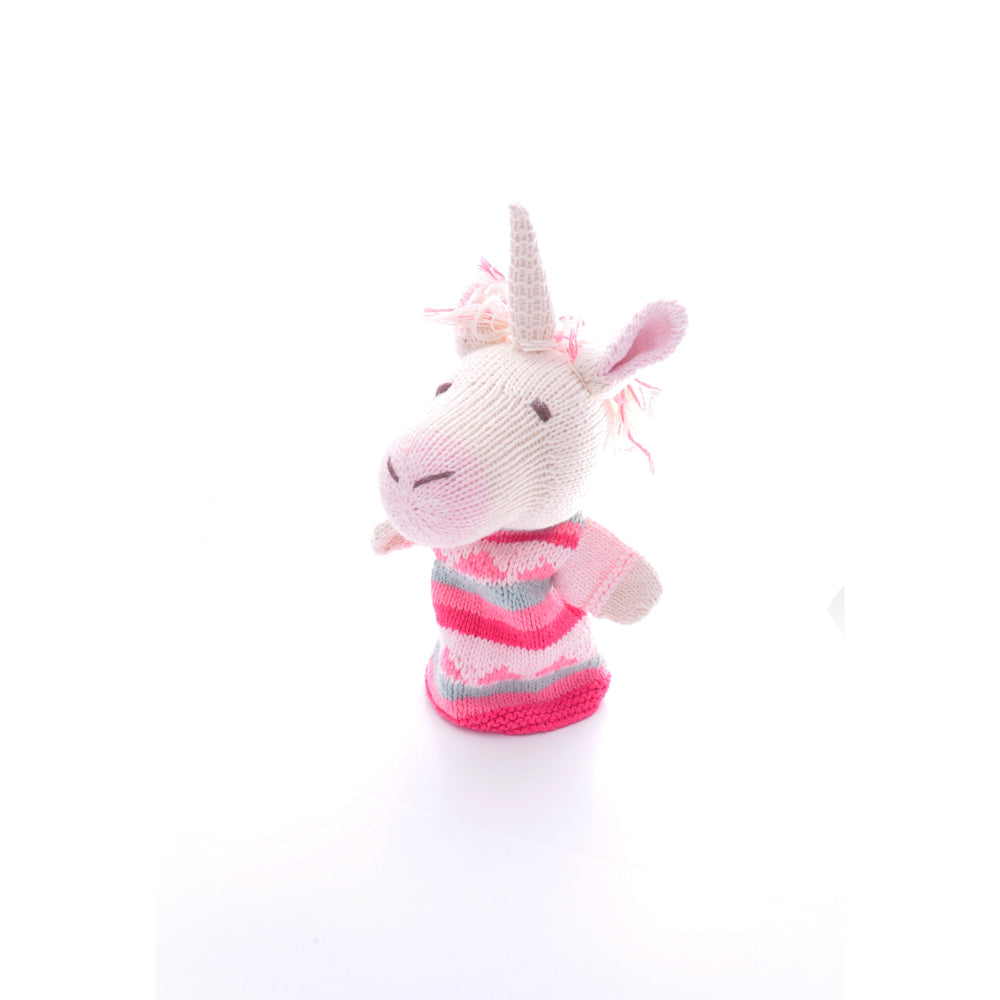 Unicorn Knitted Hand Puppet