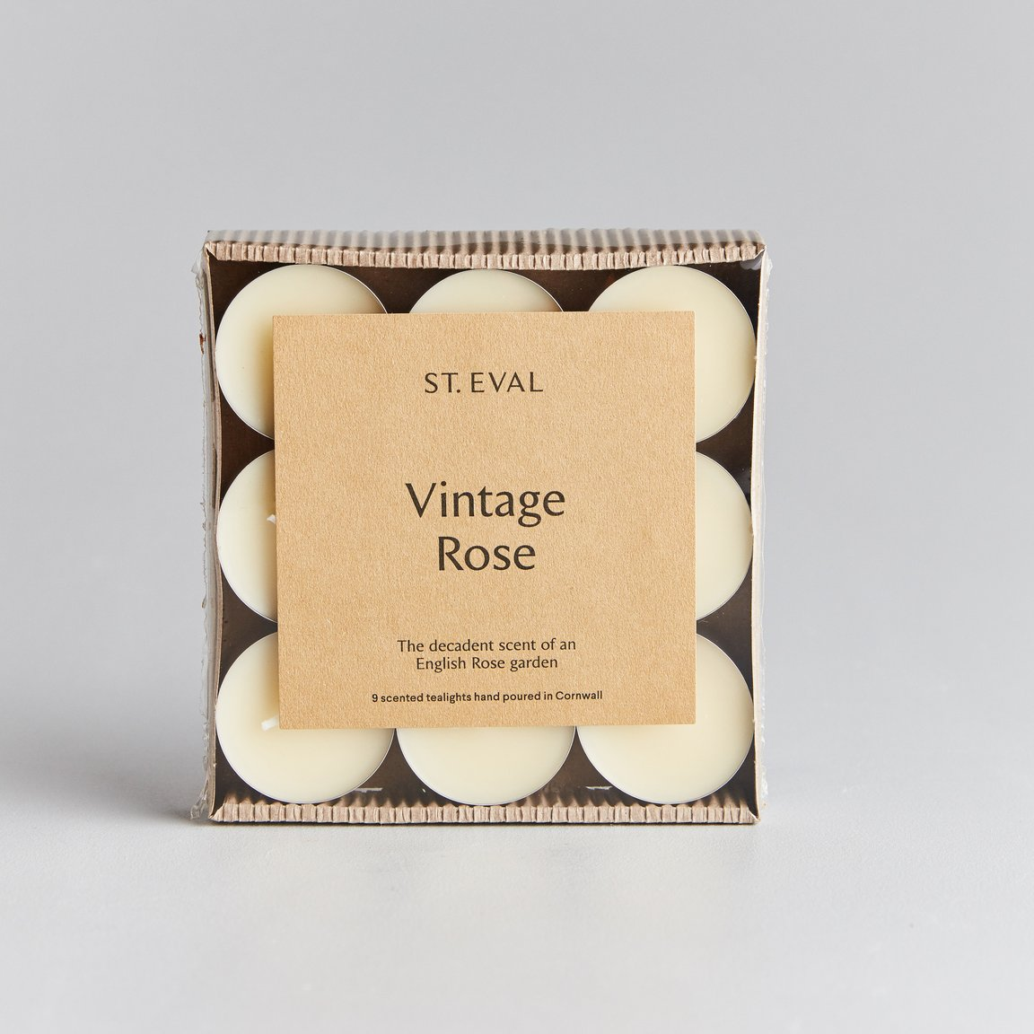 St Eval Vintage Rose Set of 9 Tealights