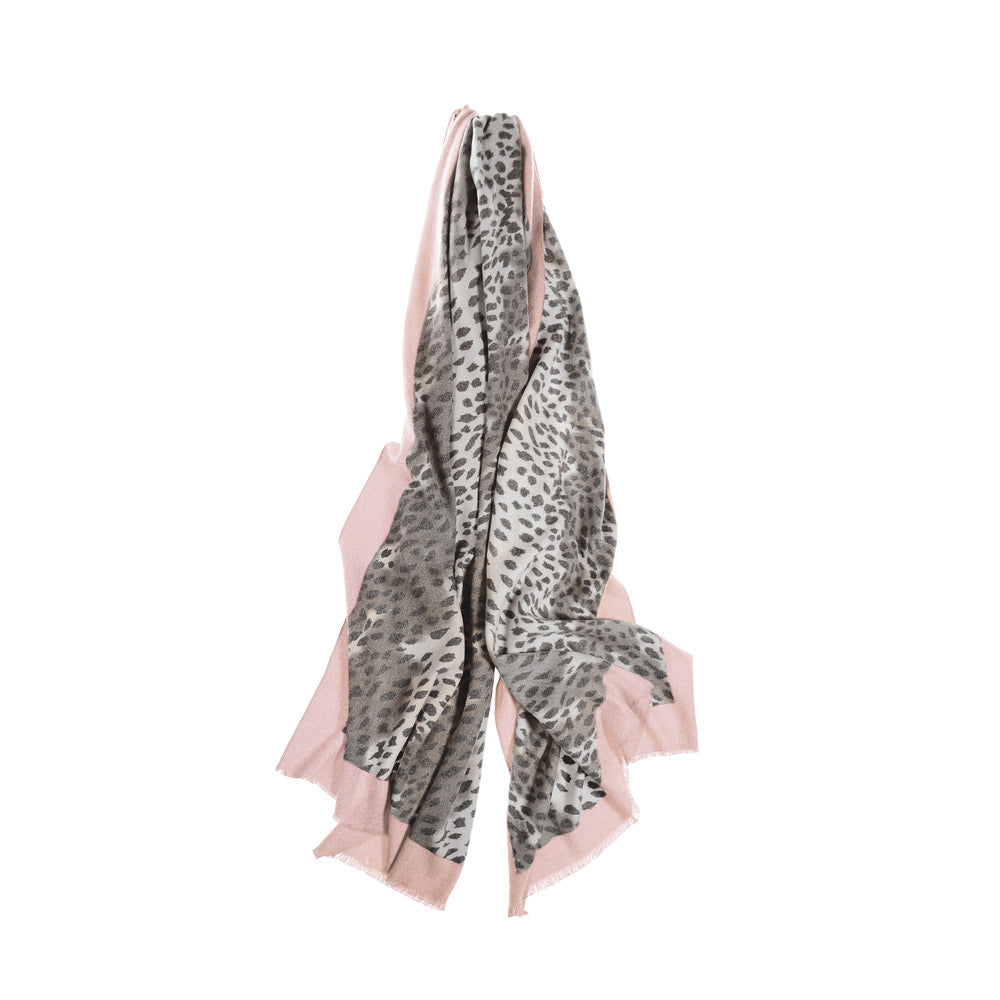 Super Soft Border Scarf - Pink