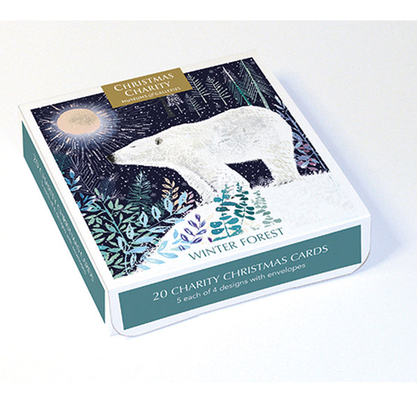 Pack Of 20 Charity Christmas Cards - Winter Forest