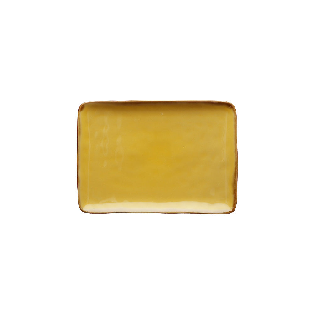 Yellow Rectangular Tray - Small