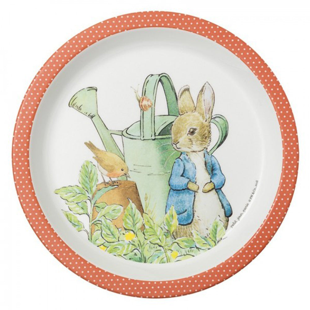 Peter Rabbit Plate in Coral