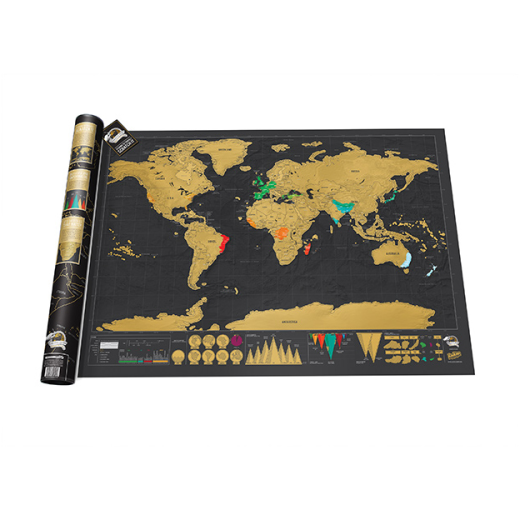 Scratch Map Deluxe - World