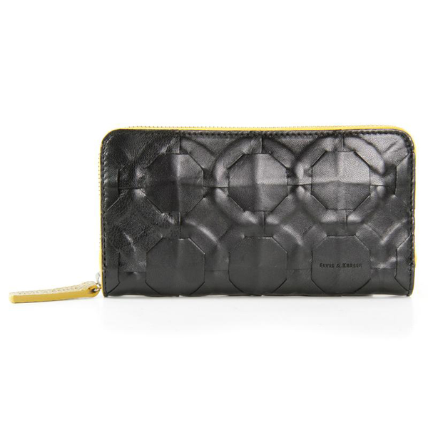 Elvis & Kresse Purse - Black & Yellow
