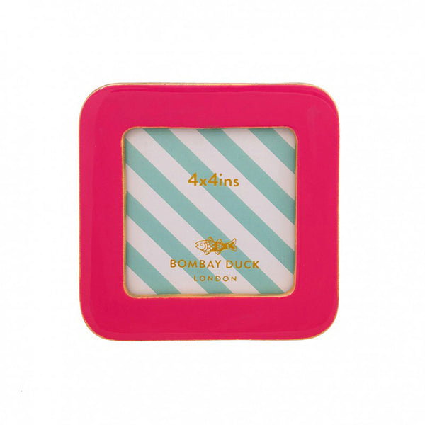 Enamel Bertie Photo Frame - Flamingo