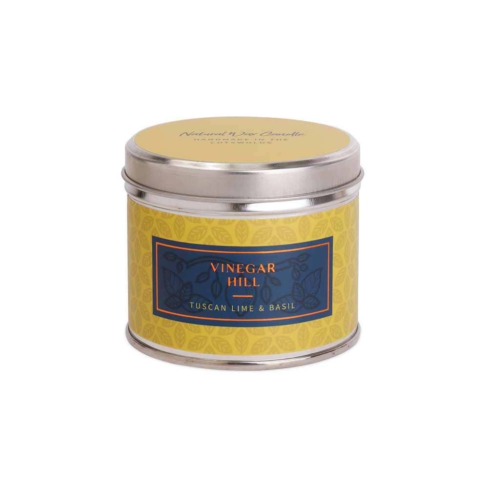 Tuscan Lime & Basil Scente Candle Tin - Medium
