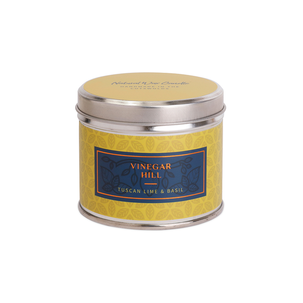 Tuscan Lime & Basil Scented Candle Tin - Medium