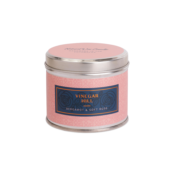 Bergamot & Rose Scented Candle Tin - Medium