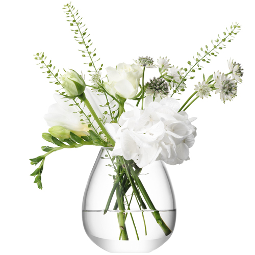 Flower Mini Table Vase H9.5cm Clear