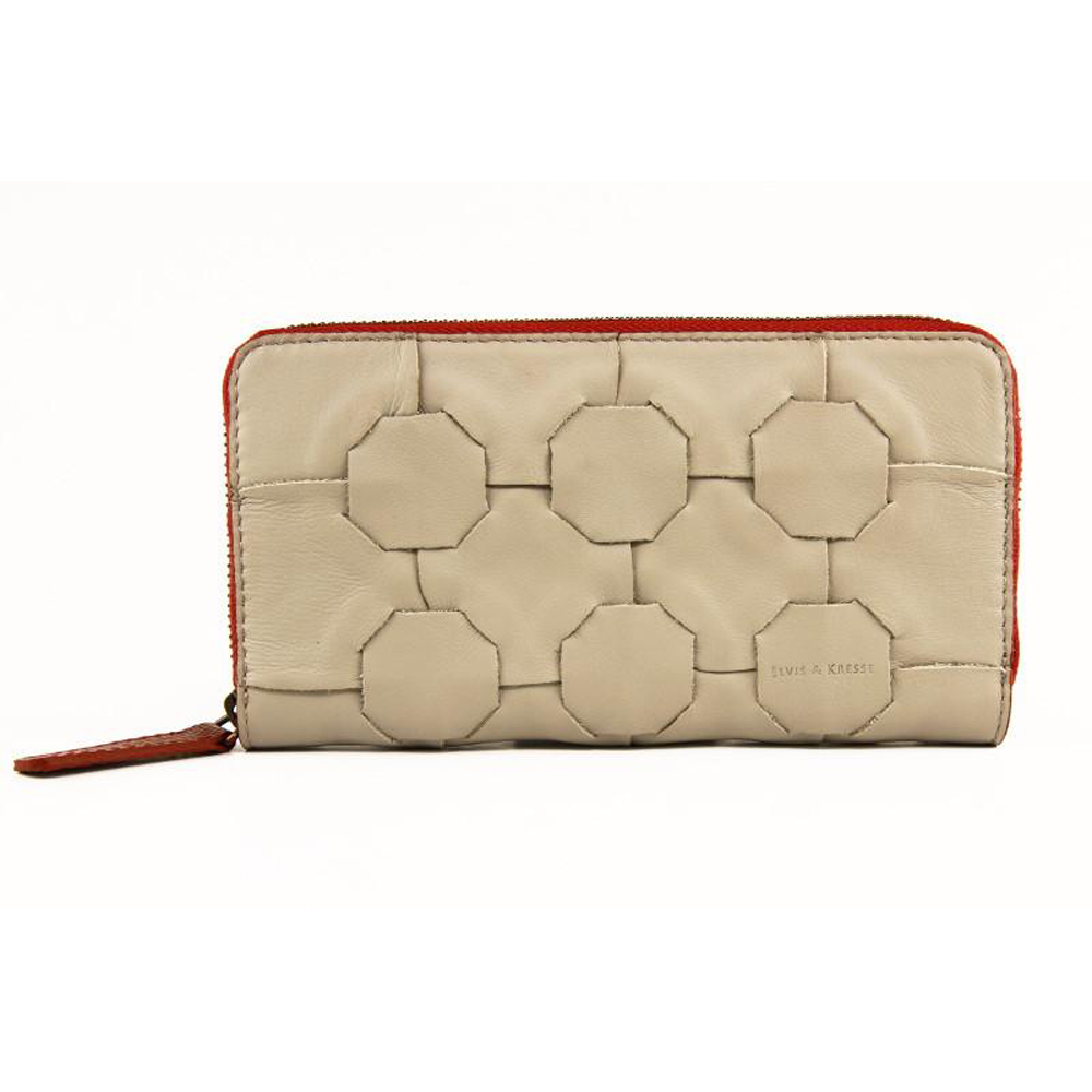 Elvis & Kresse Purse - Grey & Red