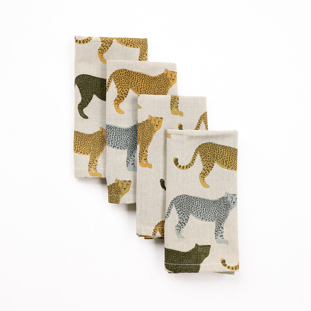 Raine & Humble Cheetah Gone Wild Napkins Set of 4