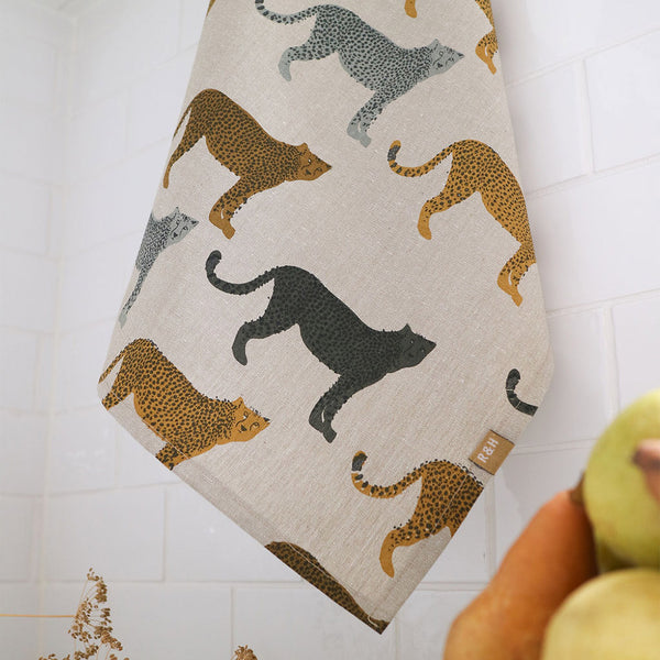 Raine & Humble Cheetah Gone Wild Tea Towel