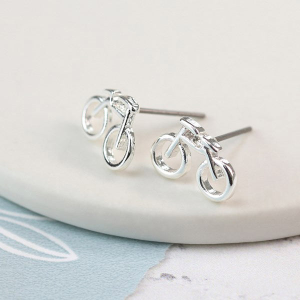 Bicycle Stud Earrings