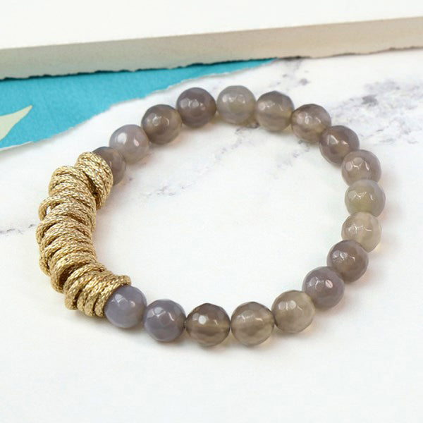Bead & Textured Ring Bracelet