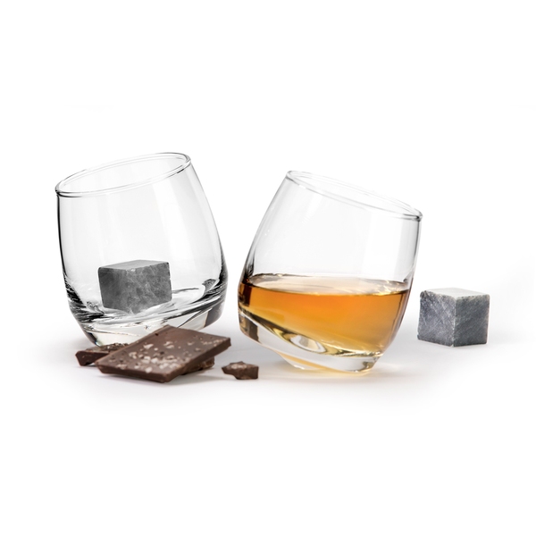 Forma House Whiskey Glasses with Cooler Cubes