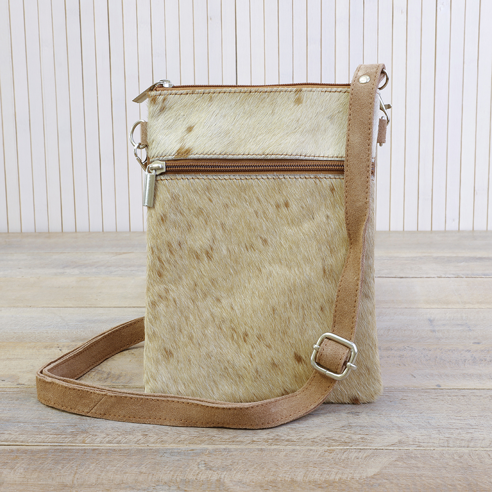 Cow Hide Leather Cross Body Bag