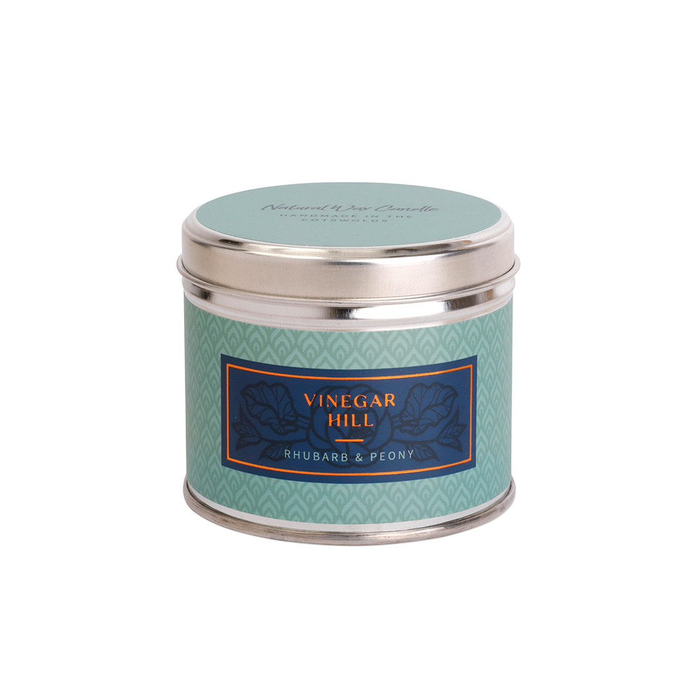 Rhubarb & Peony Scented Candle Tin
