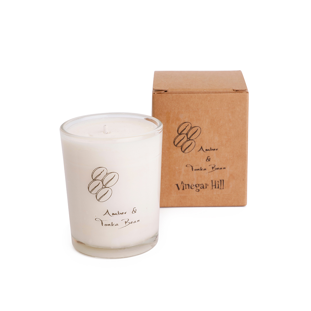 Candle 9cl Votive - amber & tonka bean