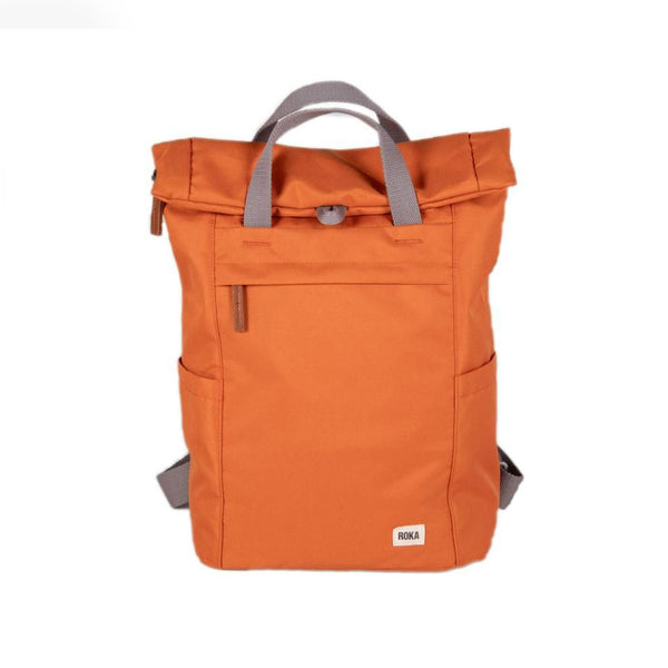 Small Roka London Finchley A Sustainable Bag in Atomic Orange