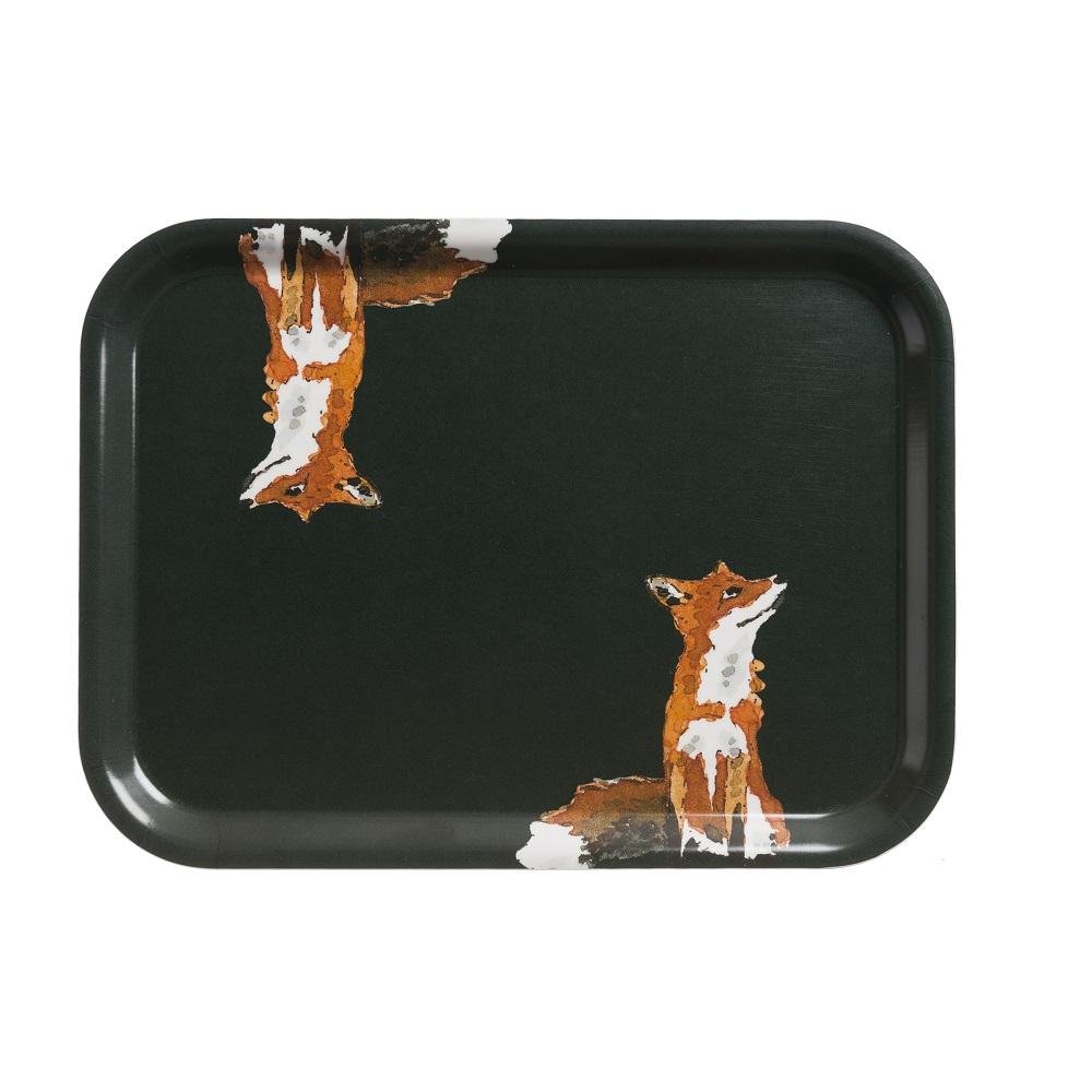 Small Printed Tray - Foxes