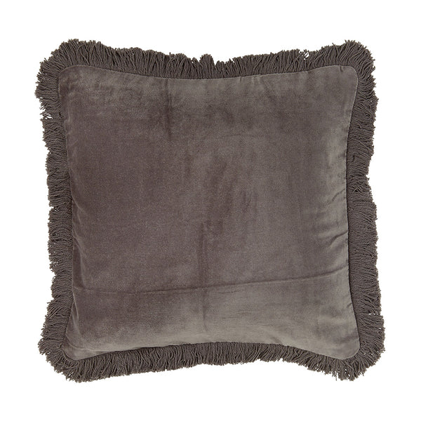 Liv Interiors Fringed Velvet Cushion