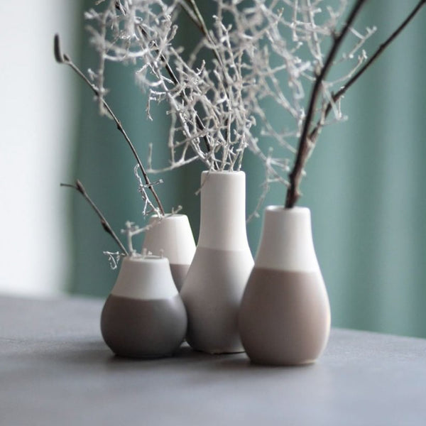 Rader Mini Grey Vases Set of 4