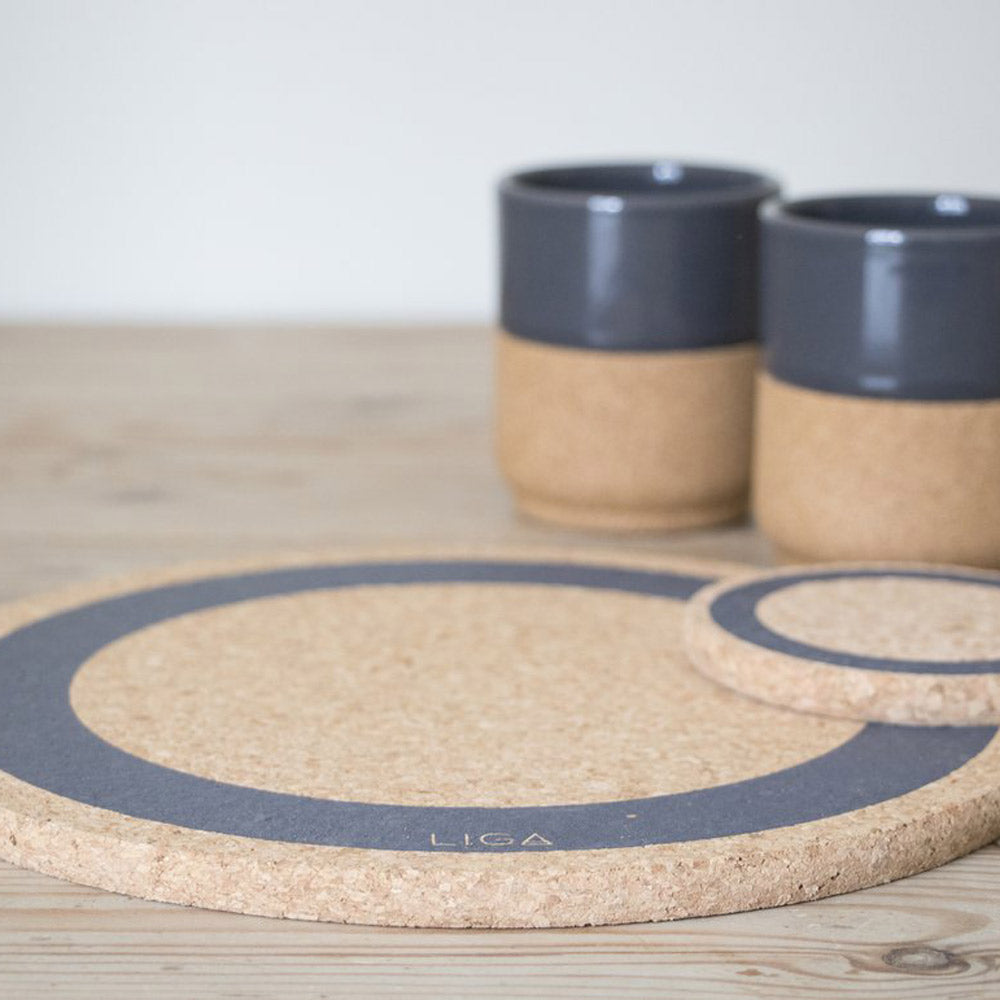 Earth Cork Placemat in Grey