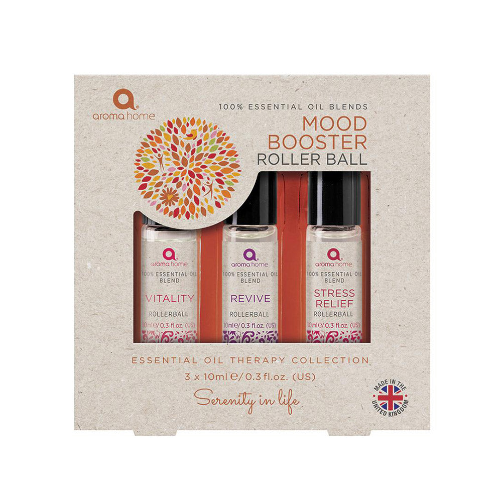 Aroma Home Mood Booster Essential Oil Roller Balls
